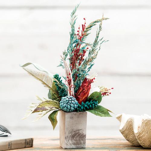 Coral Basket Floral Arrangement - Small