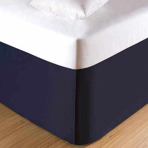 Coral Bay Navy Bedskirt - OUT OF STOCK