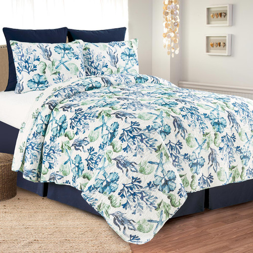 Coral Bay Quilt Set - Full/Queen - OUT OF STOCK