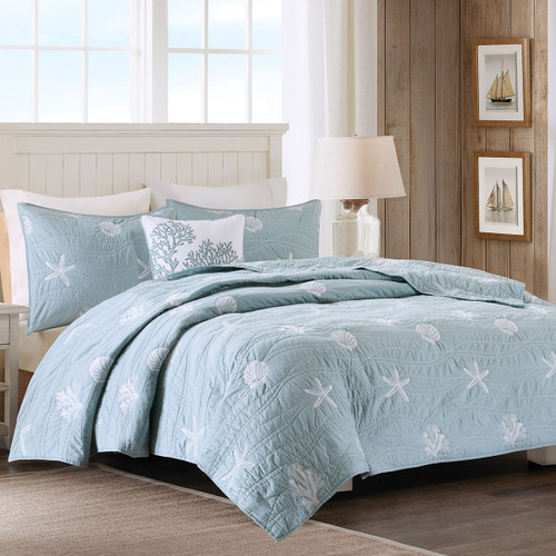 Coral Mist Coverlet Bedding Collection