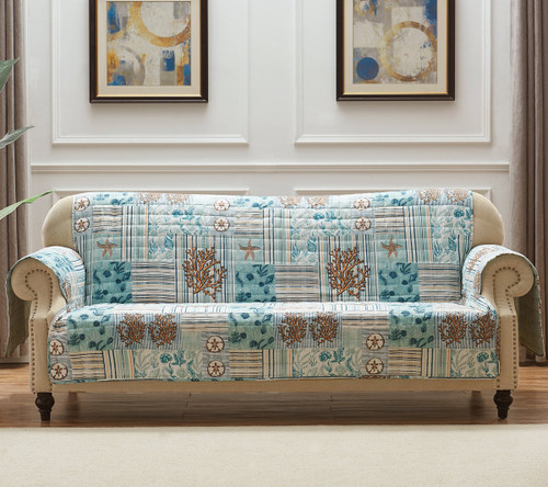 Coral Patches Sofa Protector