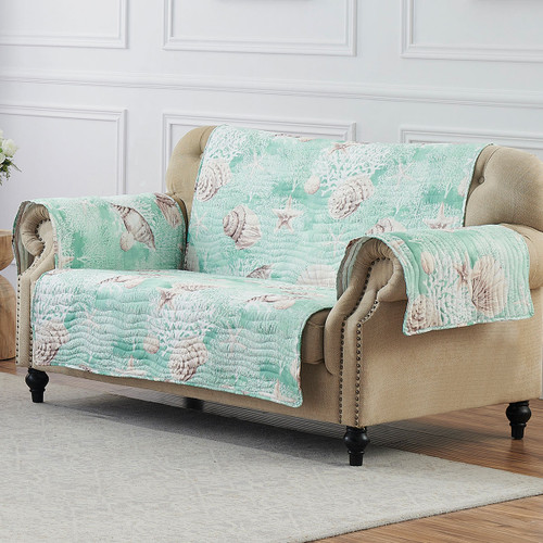 Coral Seas Loveseat Cover
