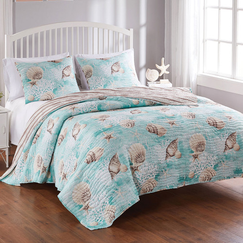 Coral Seas Quilt Set - Twin