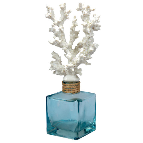 Coral-Topped Decorative Bottle