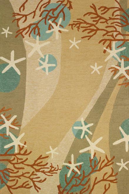 Sands & Stars Coral Rug - 2 x 5
