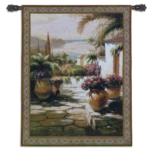 Courtyard View I Wall Tapestry