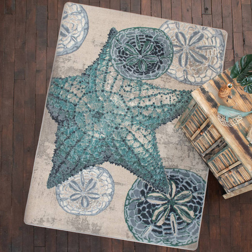 Dominican Reef Blue Rug Collection