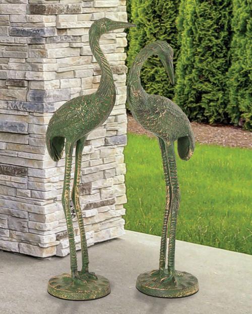 Crane Couple Sculptures - Set of 2