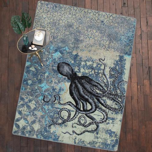 Deep Sea Octopus Rug - 8 Ft. Round