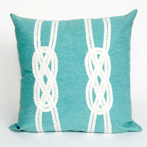 Double Knot Aqua Pillow - 20 x 20