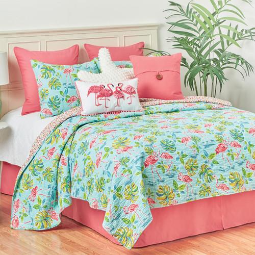 Flamingo Tropics Quilt Bedding Collection