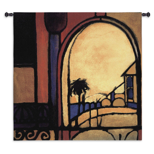 Exotic Retreat II Wall Tapestry