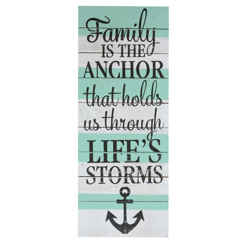 Family Is The Anchor Wall Art