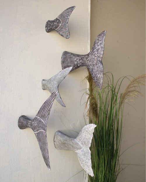 Fish Tail Wall Sculptures - Set of 5