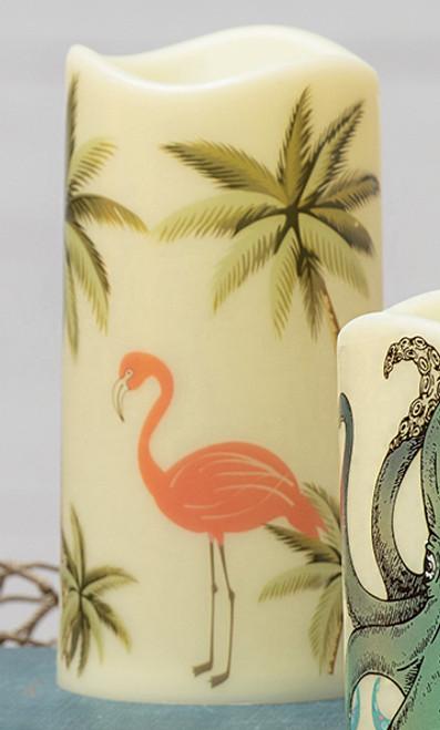 Flamingo Beach LED Candle
