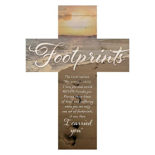 Footprints Wall Cross