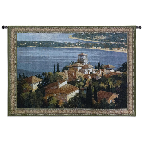 Garden On the Cote D'Azur Large Wall Tapestry