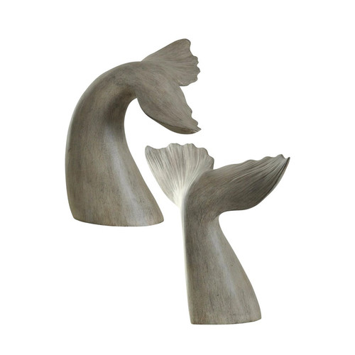 Gray Whale Tail Bookends - Set of 2