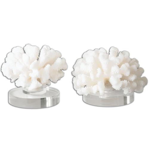 Hard Coral Sculptures - Set of 2