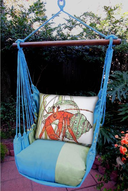 Hermit Crab Meadow Mist Stripe Swing Set