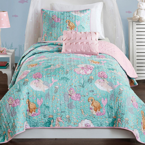 Mystical Mermaid Reversible Bedding Collection