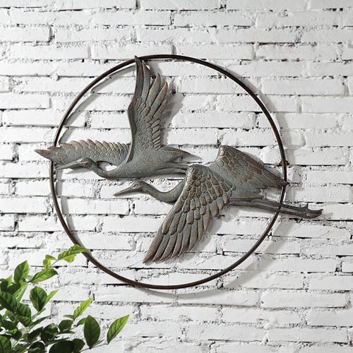 Herons Iron Wall Art