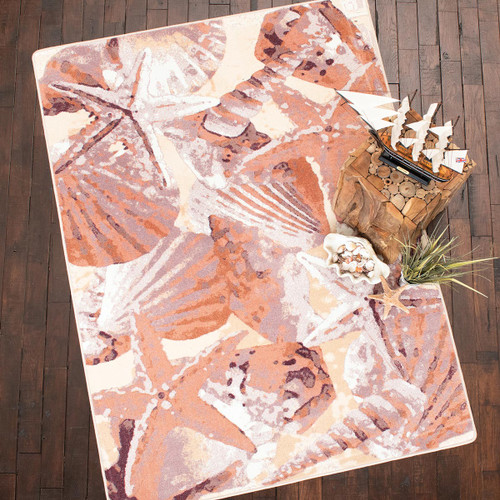Ocean Mist Coral Rug Collection