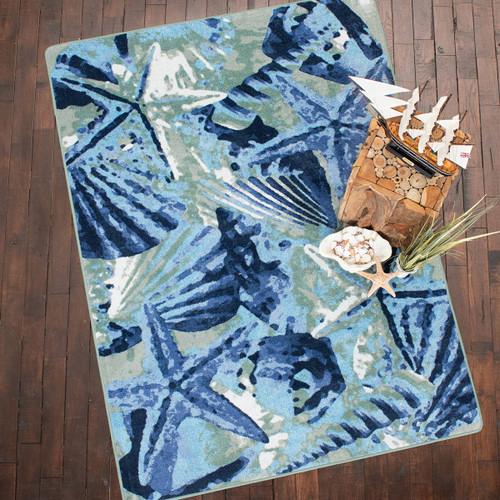 Ocean Mist Indigo Rug Collection
