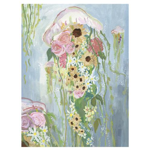 Jellyfish Flowers Canvas Art