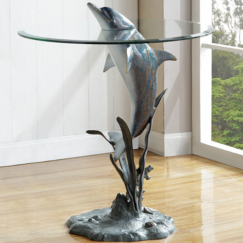 Jumping Dolphin End Table - BACKORDERED UNTIL 11/23/2021