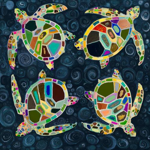Kaleidoscope Sea Turtles Canvas Art