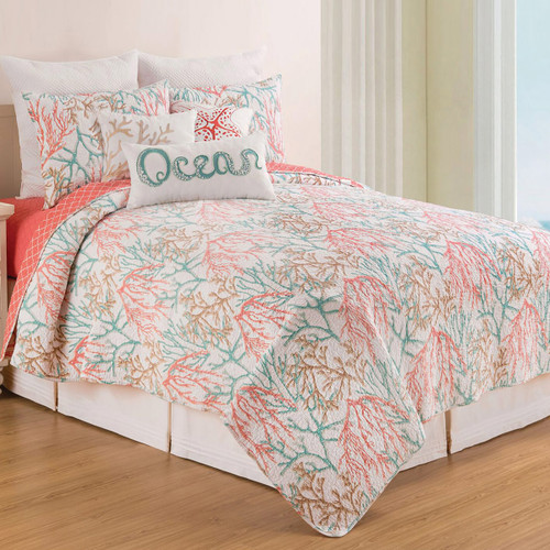 Ocean Coral Quilt Bedding Collection