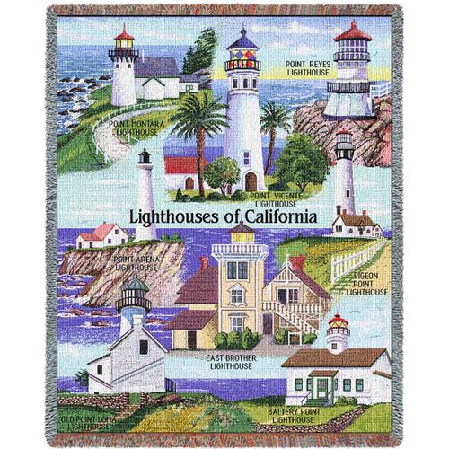 Lighthouses of California Blanket