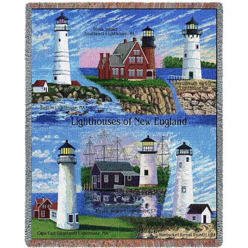 Lighthouses of New England Blanket