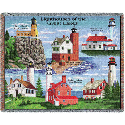 Lighthouses of the Great Lakes Blanket