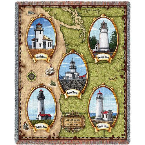 Lighthouses of the Northwest Blanket