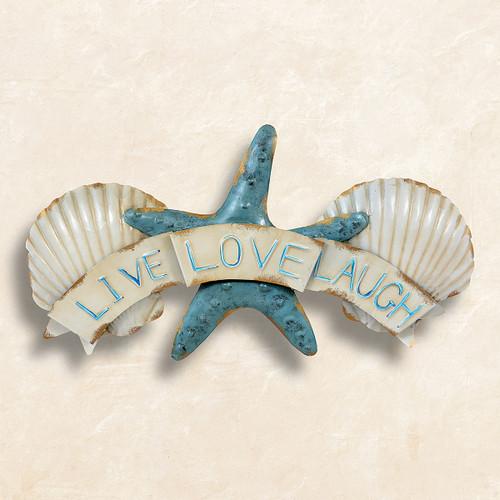 Live Love Laugh Seashell Wall Art