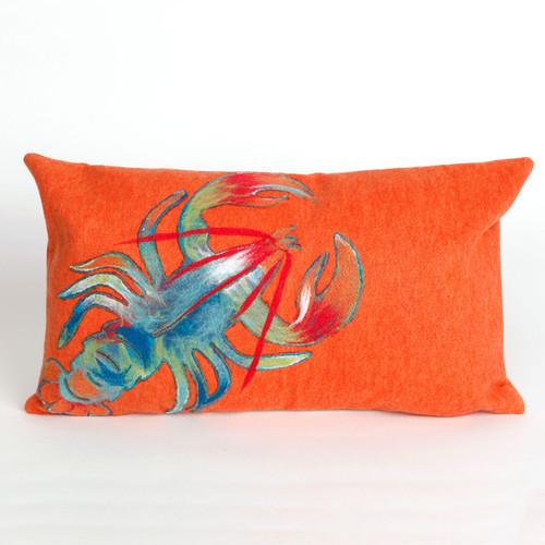 Lobster Orange Pillow - 12 x 20