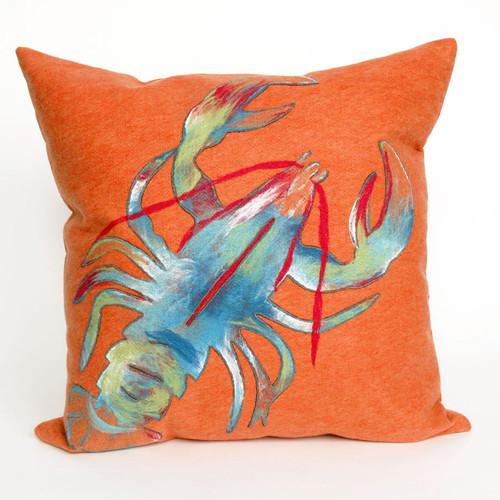 Lobster Orange Pillow - 20 x 20