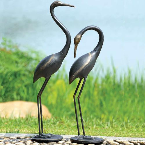 Majestic Cranes Statuaries - Set of 2 - BACKORDERED UNTIL 10/19/2021
