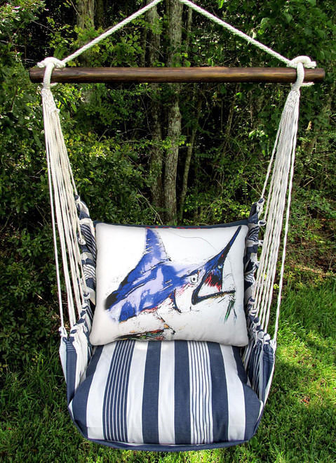 Marlin Marina Stripe Swing Set