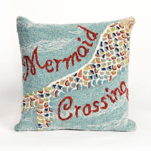 Mermaid Crossing Water Indoor/Outdoor Pillow