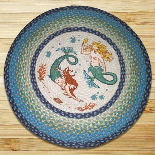 Mermaids Round Patch Rug