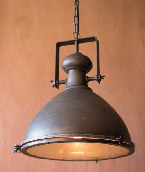 Metal Pendant Light with Glass Cover - OVERSTOCK