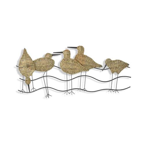 Metal Shorebirds Wall Hanging