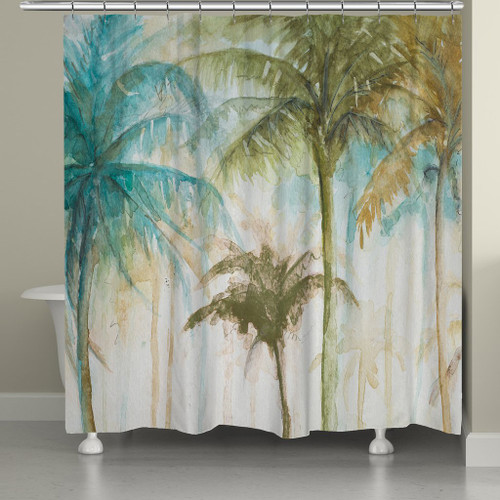 Modern Palms Shower Curtain