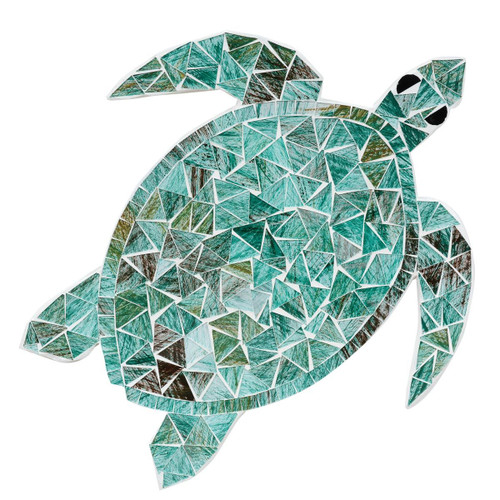 Mosaic Turtle Wall Art