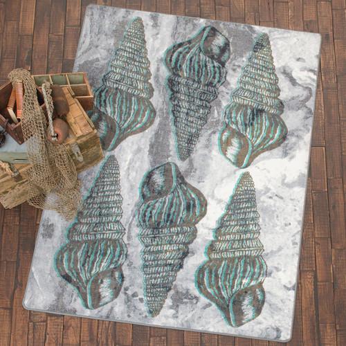 Seashell Impressions Gray Rug Collection