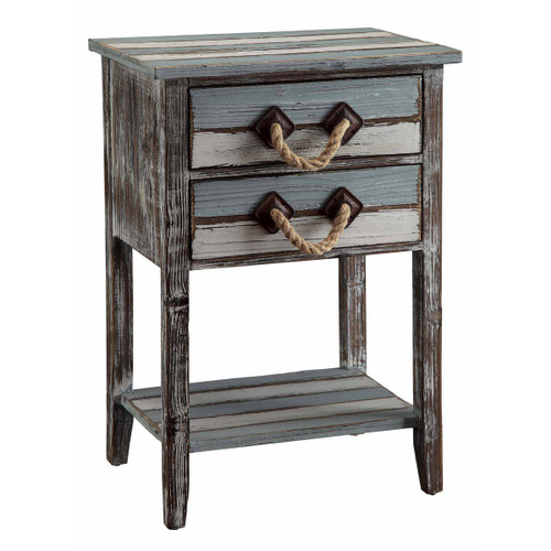 Capeside Weathered Wood Accent Table - BACKORDERED UNTIL 1/20/2022