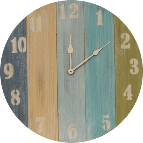Nantucket Wall Clock with Multicolor Stripes